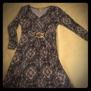 Liz Lange Maxi Dress with Buckle Detail